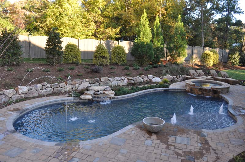 residential swimming pool designed by pool professionals